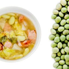 あやみどりとパンチェッタのスープ