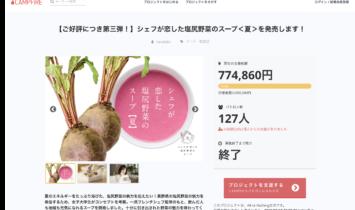 クラウドファンディング154%達成!